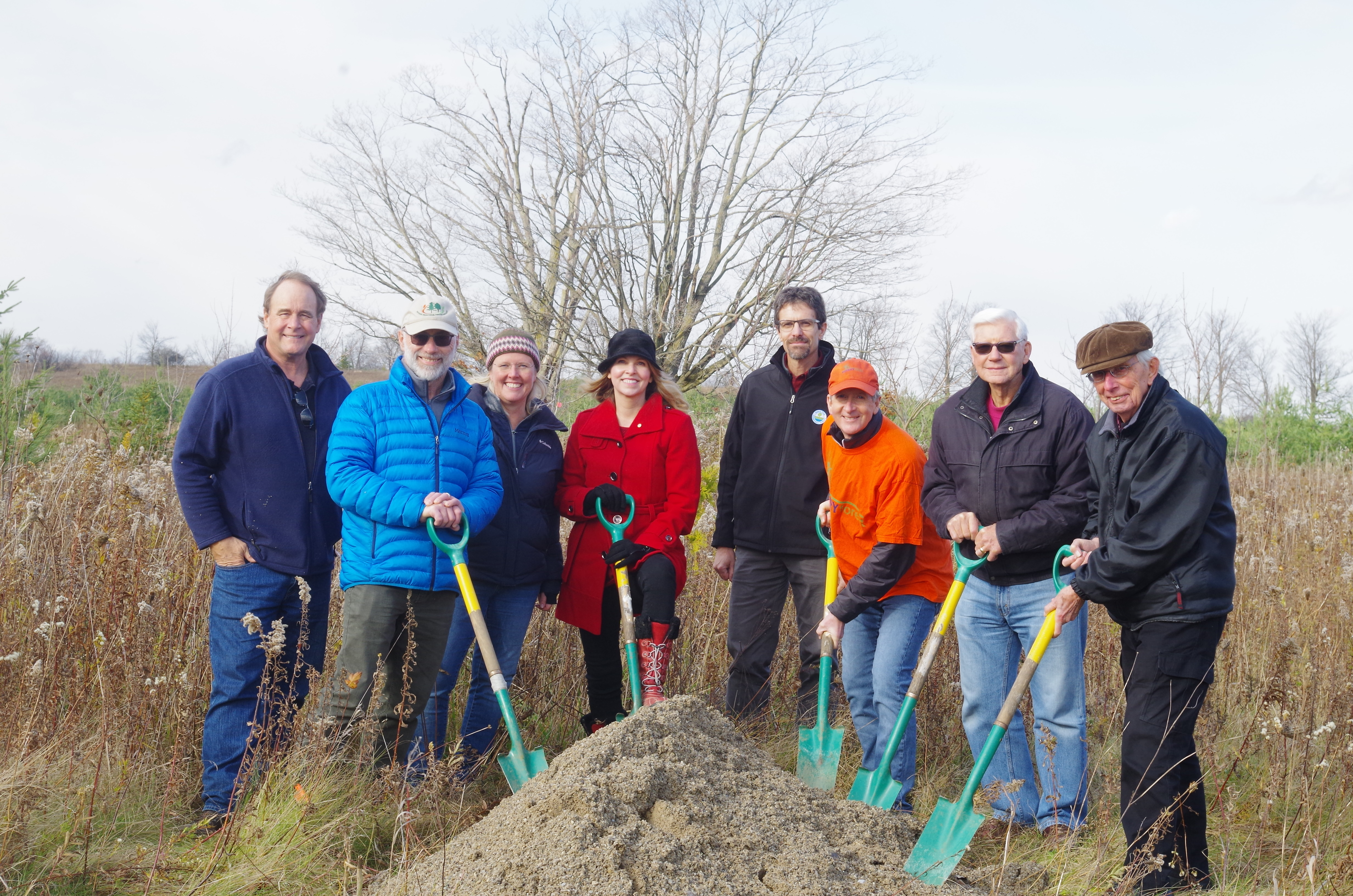 Rotary Trail ground-breaking ceremony