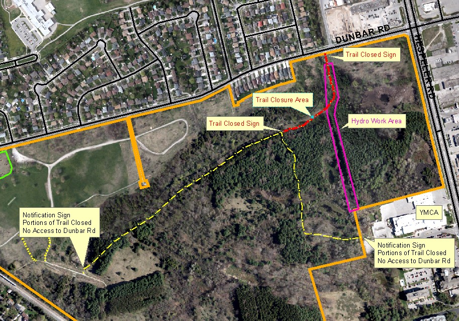 Dumfries Conservation Area temporary trail closure